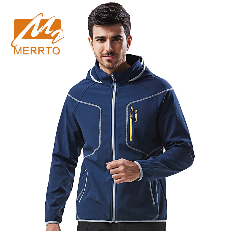 2017 Merrto Waterproof Softshell Jacket Men Women Fleece Windbreaker Breathable Hiking Hooded Jacket Windproof Thermal Jacket 2017 new brand fleece softshell jacket women outdoor climbing hiking sport jacket women windbreaker thermal waterproof jacket
