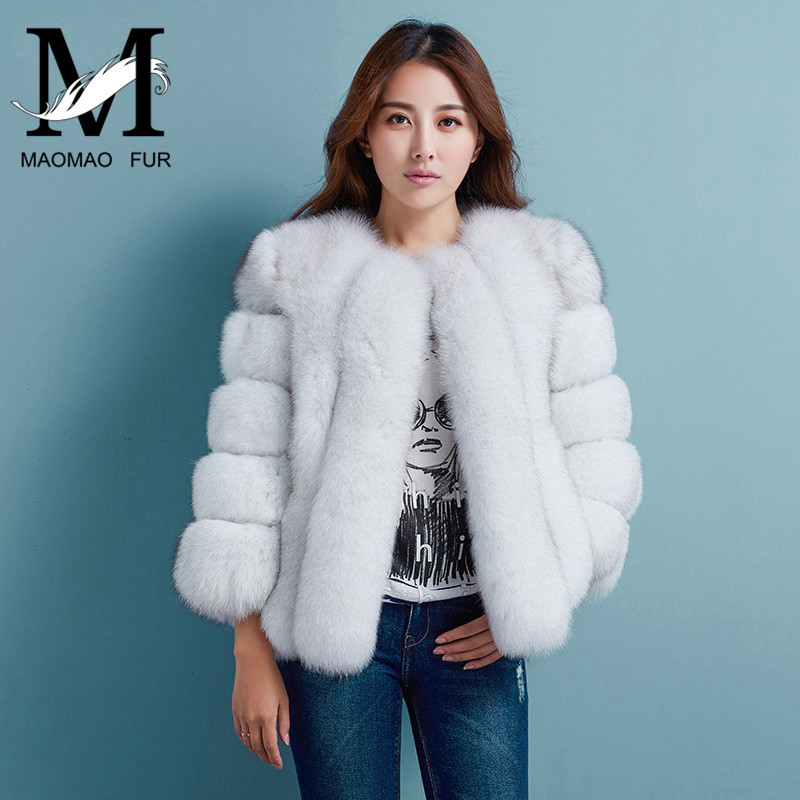 Women Winter Thick Fur Coat New Arrival Lady Real Fox Fur Jacket Wholesale High Quality Fox