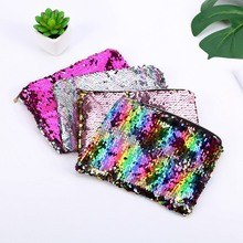Women Sequins Cute Girl Coin Purses Makeup Bag Lady Clutch Handbags Lady's Travel Handbags