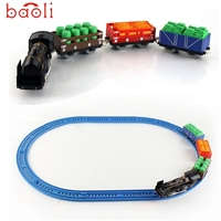 Modern New DIY Electric Train With Light Music Toy For Kids Children Gifts Free Shipping Apr13