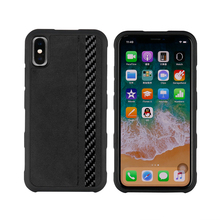 Di lusso di Affari Morbida di TPU Caso In Fibra di Carbonio Per iPhone Copertura di Caso di X Alcantara Anti bussare Per iPhone X Pieno protegge la Cassa Del Telefono