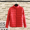 6XL Plus Size Women Parkas 2017 New Stand Collar Casual Long Sleeve Parka Coat Red TY063