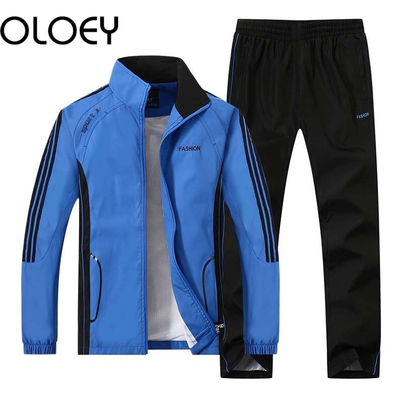 Joggers 2-Stripe Sweatshirt Spring Summer Zip Up Top Jog Pants Long Sleeve Cycling Activewear,A,XXL Mens Tracksuit