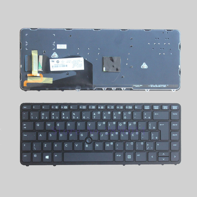 d5ab30e9e384 US $14.1 6% OFF|Brazil New Keyboard FOR HP EliteBook 840 G1 850 G1 Black BR  laptop Keyboard with frame Backlit-in Replacement Keyboards from Computer  ...