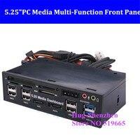 5.25PC Media Dashboard Multi Function Front Panel 2 Port USB 3.0 +6 Port + USB2.0 All In 1 Card Reader + eSATA+ SATA+Auido Port