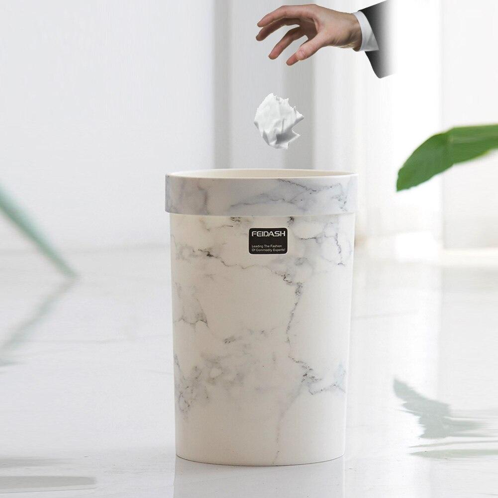 Wzór marmuru kosze na śmieci sypialnia kosz na śmieci salon kosz na śmieci na śmieci wiadro bez pokrywy europejski styl kosz na śmieci Hot w Kosze na śmieci od Dom i ogród na