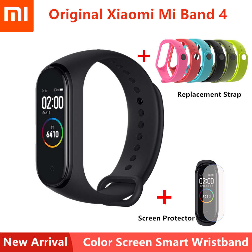 Xiaomi Mi Band 4 Smart Bracelet Bluetooth Heart Rate Sport Smart Band AMOLED Color Screen 135mAh Waterproof Wristband English