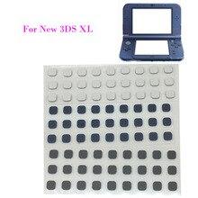 30 sztuk śruby przednie pokrywa otworu na nowe podkładki gumowe konsoli 3DS XL LL