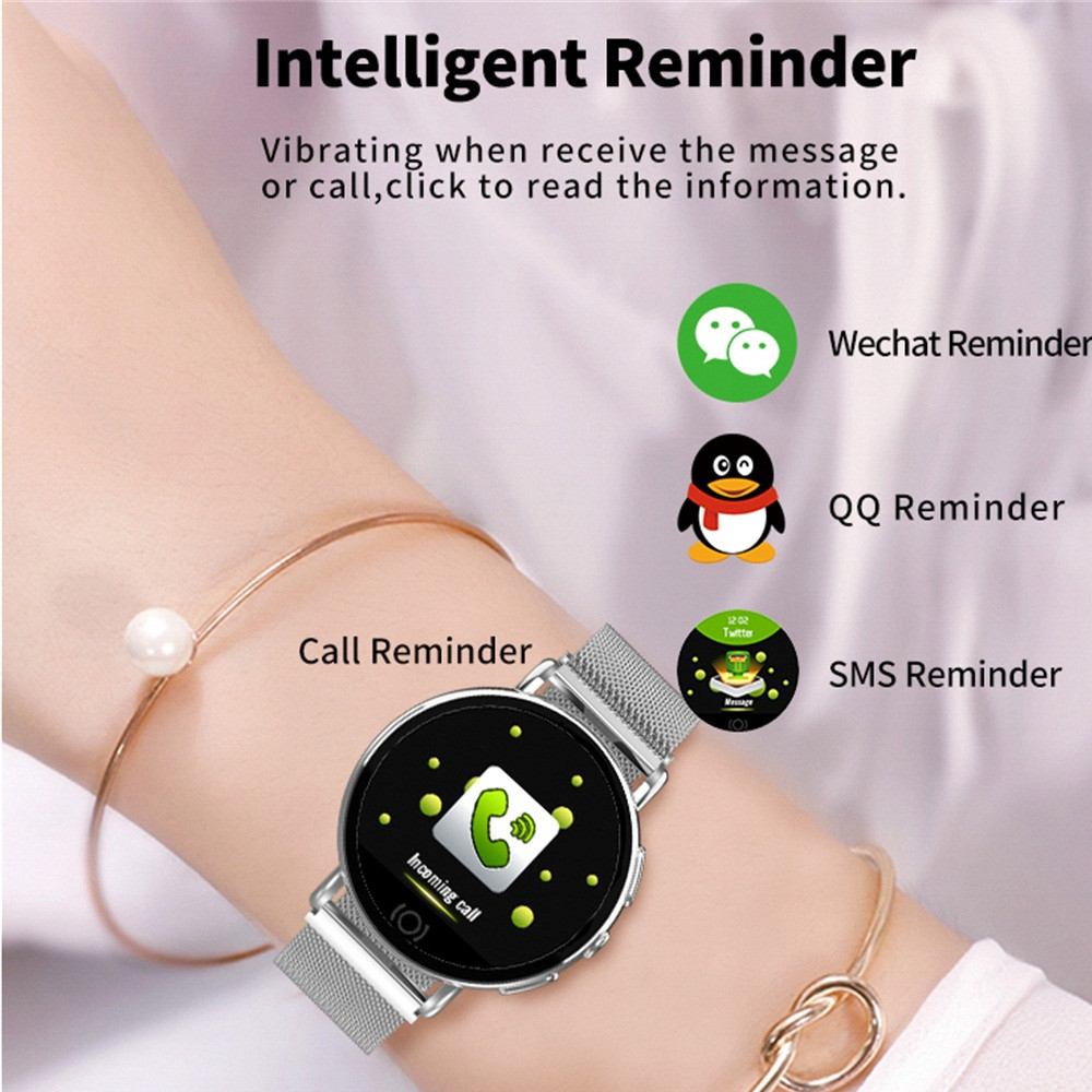 ZGPAX Q9 SmartWatch Blood Pressure Heart Rate Monitor Fitness Tracker for  Men Women Smart Watch Message Call Reminder Woman Wear