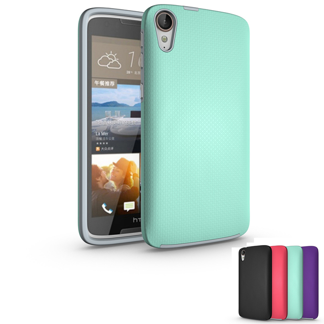 timeless design 3f6b8 e8d7d US $4.19  For HTC Desire 828 Case Hybrid Armor Soft Silicon Hard PC Combo  Aluminum Button Shockproof Cover For HTC Desire 828 Case Funda-in Fitted ...