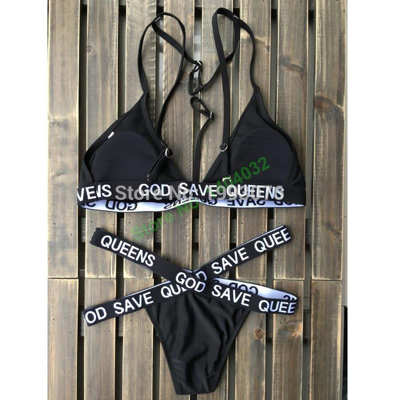 c658bc1da39af Water Princess Bikini Sets 2017 Brazilian God Save Queens Bandage ...