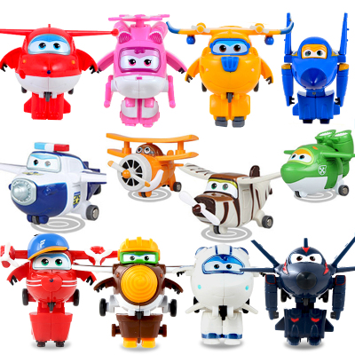 12pcs/set Super Wings Mini Airplane ABS Robot toys Action Figures Super Wing Transformation Jet Animation Children Kids Gift-in Action & Toy Figures from Toys & Hobbies    2