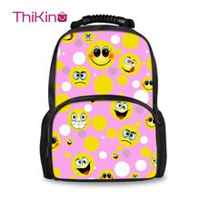Thikin 2019 3D Printing Funny Looks Backpack for Teenager Large Size School Bag Students Men Women