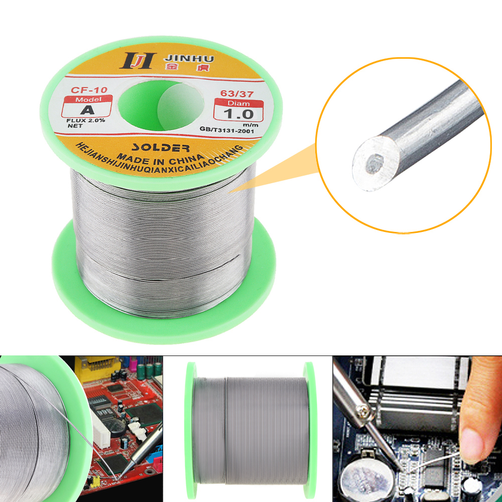 <font><b>60</b></font>/<font><b>40</b></font> B-1 250g 0.3mm - 2.0mm No-clean Rosin Core <font><b>Solder</b></font> Wire with 2.0% Flux for Welding Electric Soldering Iron image