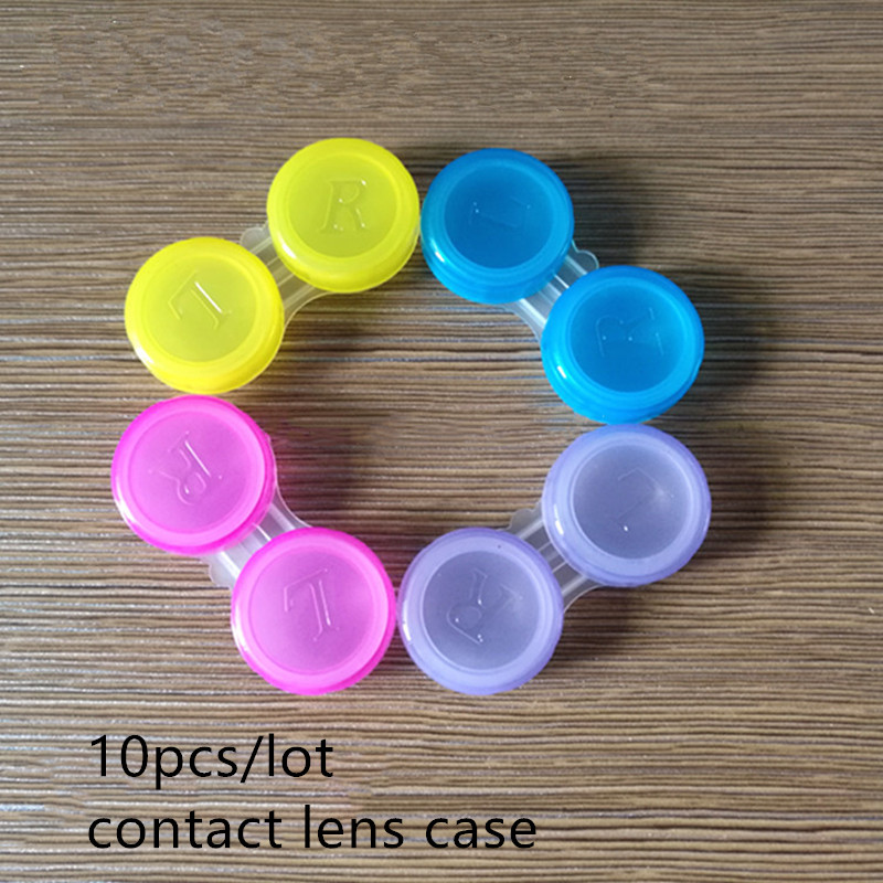 10PCS Contact Lens Case Double-Box Eye Care BoxColor Randomly Keeps Contact Lenses Safe Lenses Container A006