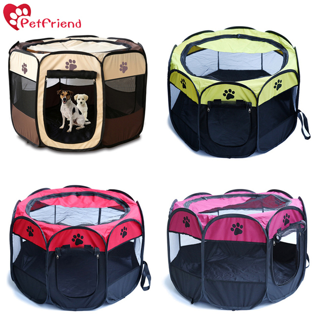 Pet PlayPen Puppy Dog Pet Cat Rabbit Guinea Pig Portable Foldable Fabric  House Playpen Crate Cage