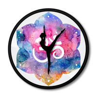 Ballerina Watercolor painting Ballet Dancer Iron wall clock Metal frame Room decorative Time clock Girl Gift