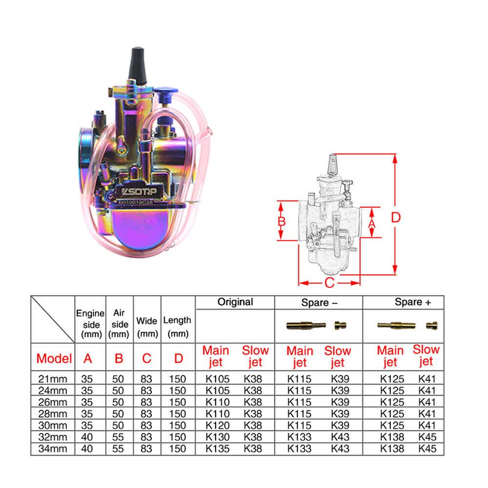 zsdtrp new universal multicolor motorcycle carburetor 28 30 32 34mm with power jet dirt bike 4t  [ 1000 x 1000 Pixel ]