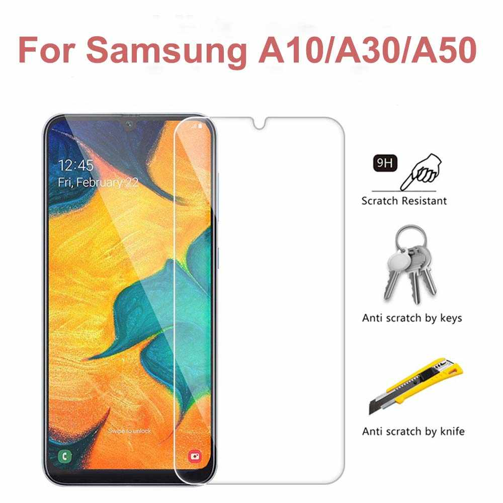 9H Tempered Glass For Samsung Galaxy A10 A30 A50 M10 M20 M30 Screen Protector Protective Film For Samsung A9 A7 2018 A9S Film