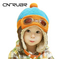 Hot Sales Winter Child Hat Baby Boy Ear Protector Cap Pocket Hat Baby Girl Hats Pilot Cap Kids Beanies 6 Months To 4 Years Old