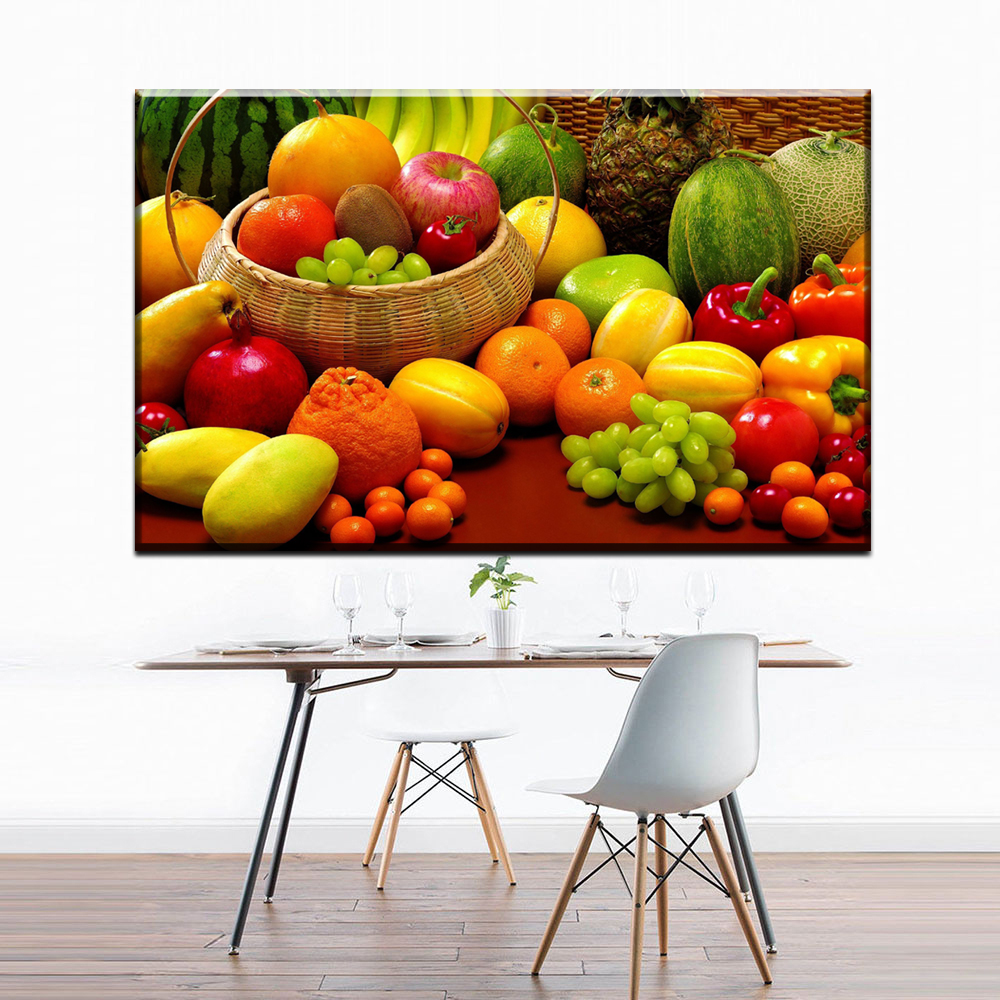 XX588 New Spray HD Fruit vegetables Canvas Paintings for Kitchen Room Wall Posters and Prints No Frame Free Shipping