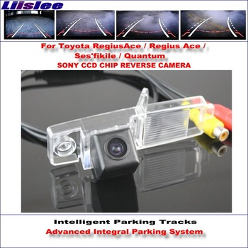 Liislee Intelligent Parking Tracks Rear Camera For Toyota RegiusAce / Regius Ace Backup Reverse / NTSC RCA AUX HD SONY CCD