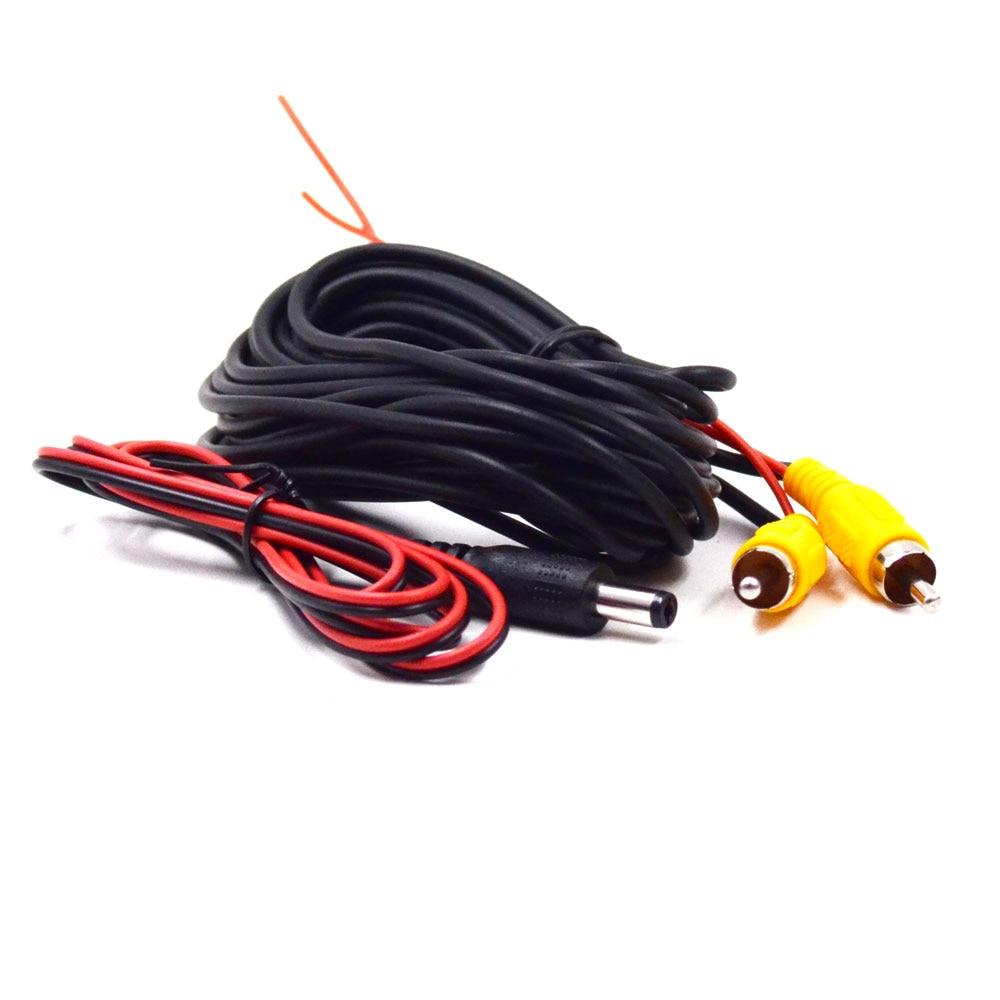 Универсальный авто RCA AV кабель жгут проводов для автомобиля заднего вида камеры парковки 6 м видео удлинитель