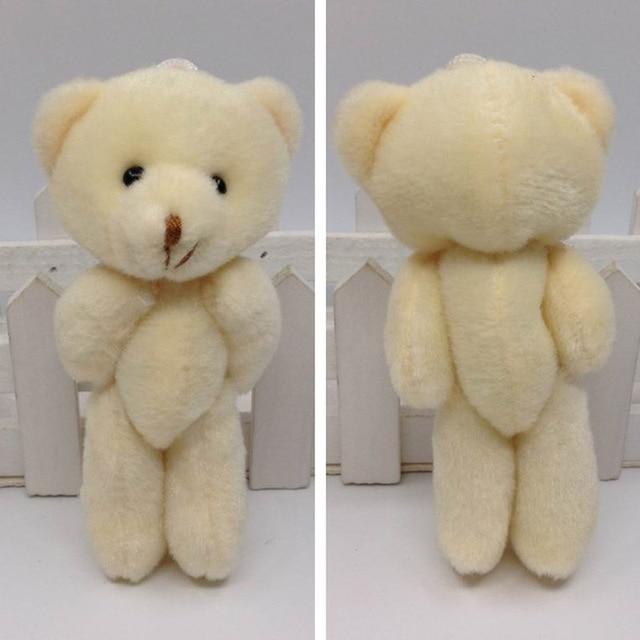 bulk 12cm x 24pcs cute joint flat plush teddy bear urso de pelucia