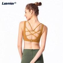 Women Sports Bra Professional Yoga Fitness Running Vest Padded Crop Tops Underwear Sportswear clothing