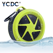 YCDC Portable Shower Waterproof Wireless Bluetooth Speaker Subwoofer Car Handsfree Call Music Suction Mic For iOS Android Phone