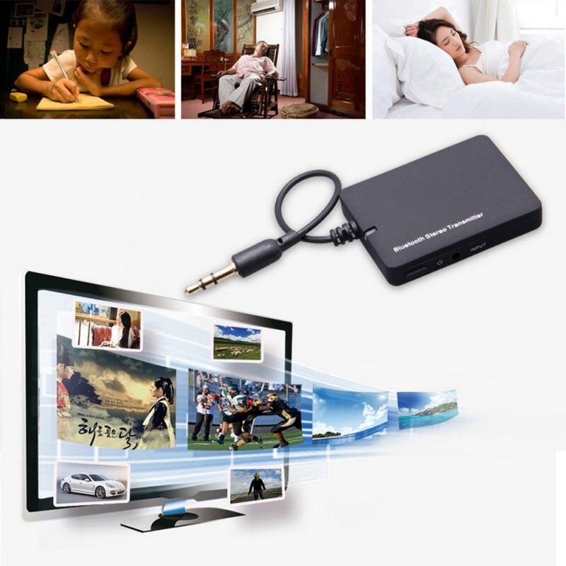 Новый мини 3.5 мм Bluetooth аудио передатчик A2DP стерео Dongle адаптер для ТВ MP3 MP4 ПК аудио bluetooth music receiver
