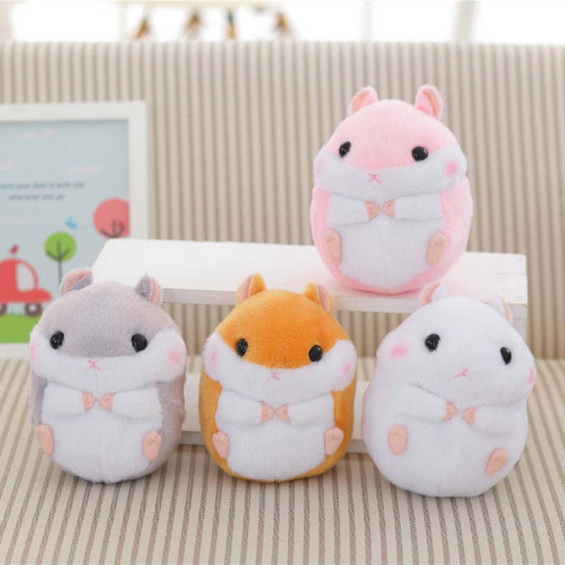1PCS 18cm Kawaii Simulation Hamsters Doll, Hamster Mini Plush Toys, Cute Hamster Toys, Hamster Animals, Kids toy! creative kids talking hamster electronic pet toy 1pc