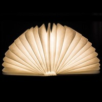 Woody 360 Angel Book Shape LED Night Light Creative 4.5w USB Rechargeable Mood Lamp Home Decor Gift Bedside