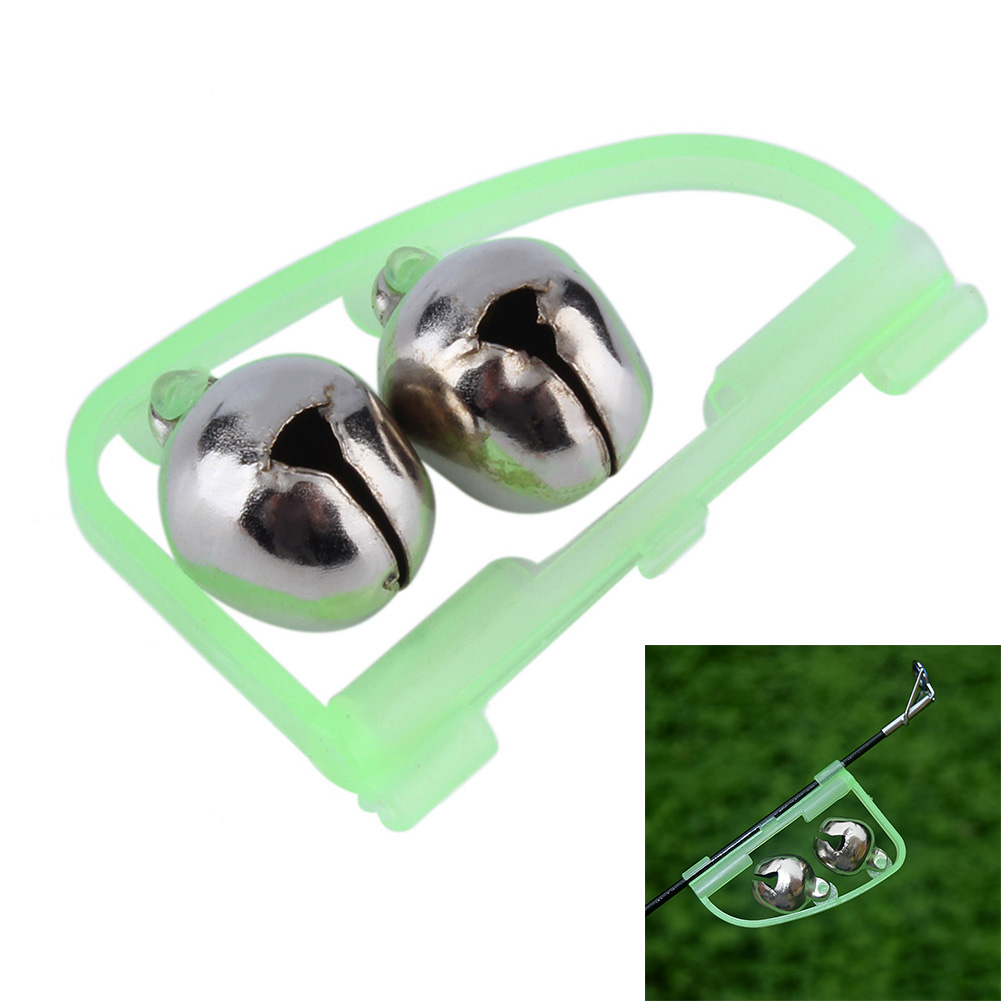 Fishing Tool Outdoor Sports Night Glow Light RodTip Clip Twin Bell Aarm Ring Fishing Accessory