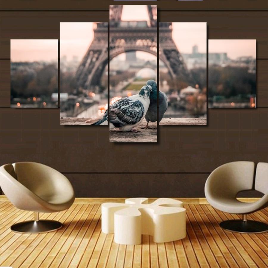 Newlywed Home Decor: Paintings Romantic Doves Couple Home Decor 5 Pieces/Pcs