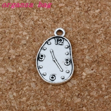 Melting Clock charm Pendant 100Pcs/lot Hot sell Antique Silver alloy Jewelry DIY 13* 22mm A-203