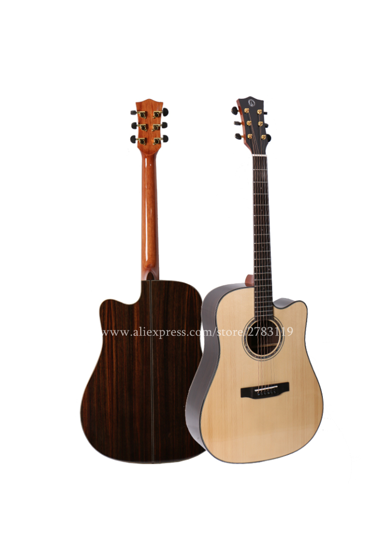 professional solid top guitar 41 acoustic guitar solid spruce top rosewood body guitars china. Black Bedroom Furniture Sets. Home Design Ideas