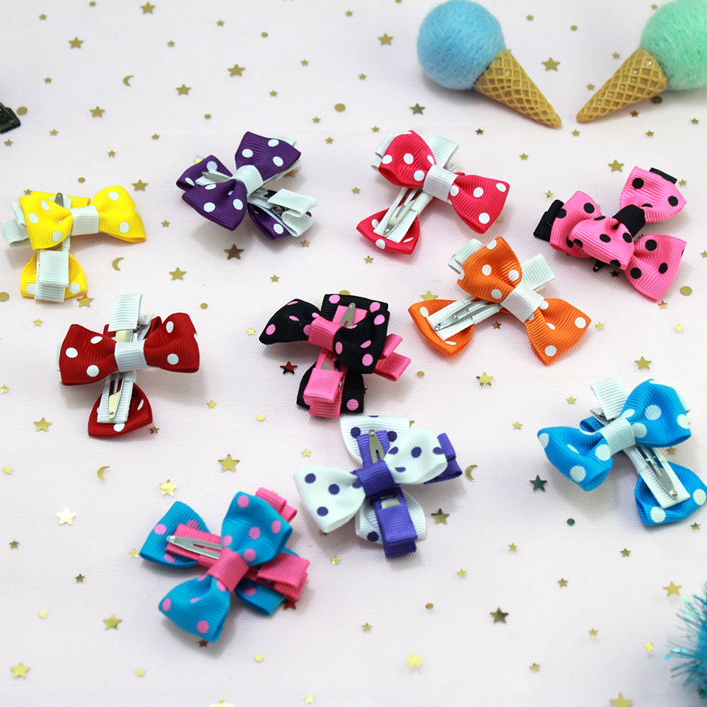 20pcs 2 Inch Colorful Toddler Baby Girls Boutique Hair Clip Bows Ribbon Barrettes Hairpins Hairgrip headwear For Children in Hair Accessories from Mother Kids