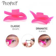 Pooypoot 2pcs Eyeliner Stencils Mold Easy To Wear Liquid Eye Liner Template Black Wing Shape Portable Stamp Makeup Tool