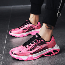 Купить с кэшбэком YUXIUYUAN 2019 New Hot Personality Pink Men Shoes Breathable Lace Up Sneakers Fashion Camouflage Sport Casual Men Shoes