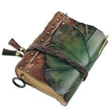 100% ของแท้หนัง Handmade A5 A6 VINTAGE Retro Travel Journal สมุดบันทึก Notepad ของขวัญวันวาเลนไทน์ BJB25