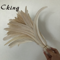 Beautiful Wholesale 200pcs white 16 18inch/40 45cm Rooster coque feather Cock Tail Feather Chicken feather Rooster tails feather