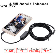 USB Endoscope Android 2MP Mobile 8.5MM Lens 2M Snake Camera Waterproof Inspection Borescope for Laptop Endoscope