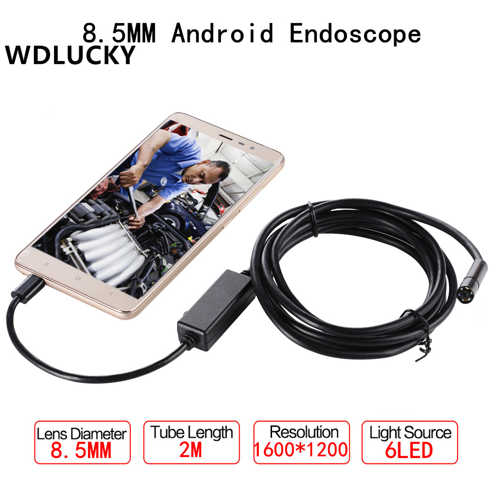 8,0 mm Objektiv 2 IN 1 Inspektionskamera Endoskop IP67 für Android IOS Mobile