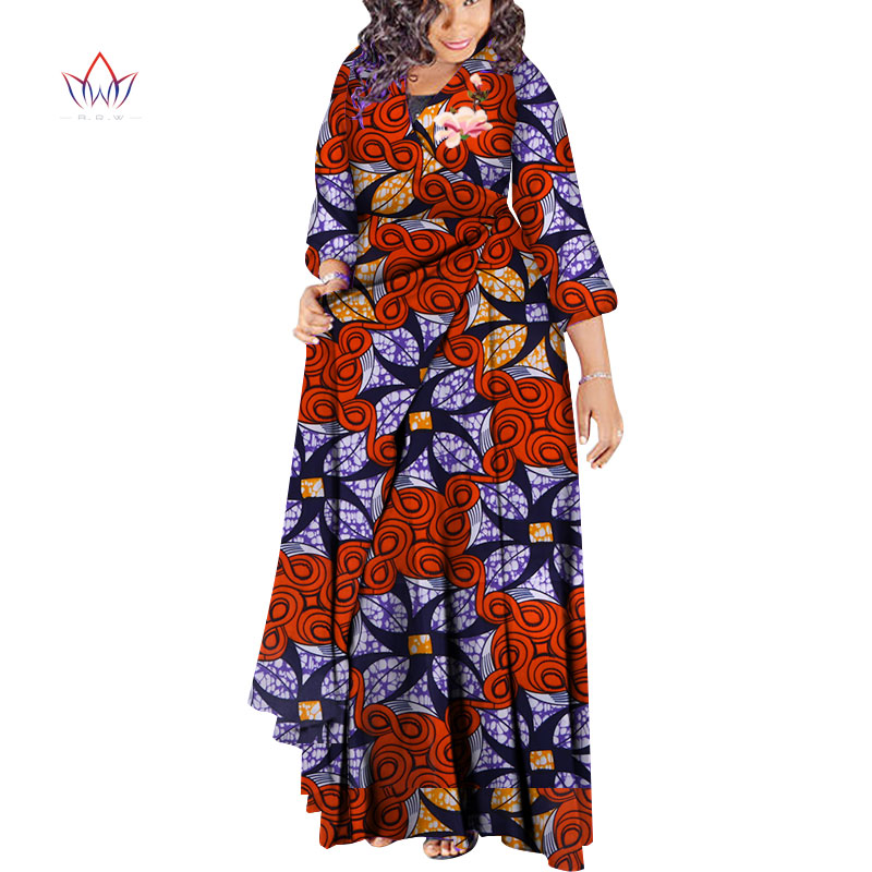 2018 African Fashion Autumn Plus Size Women   Trench   Coat Traditional African Wax Print Clothing Dashiki Casual Outwear WY3478