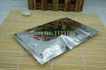 12x20cm,100X Silver plating Aluminum foil Zip Lock bags - Metallic mylar plastic pouch resealable zipper clip grip seal