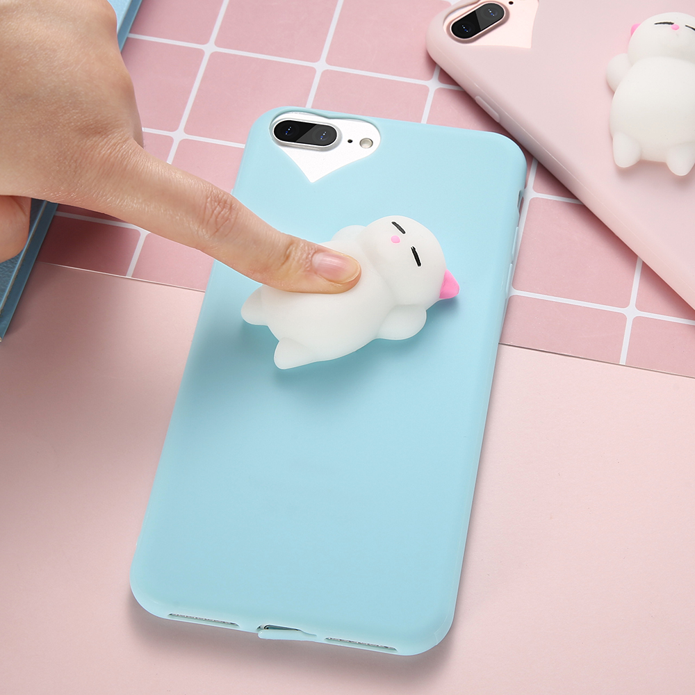 squishy phone case for iphone 6 6s 7 kisscase 3d cute cat soft silicone case for iphone 6 6s 7. Black Bedroom Furniture Sets. Home Design Ideas