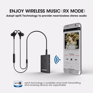 Image 5 - Mpow BH283 Wireless Receiver&Transmitter 2 in 1 Adapter Bluetooth With APTX For Car Stereo Music System/TV/Headphones/Speaker