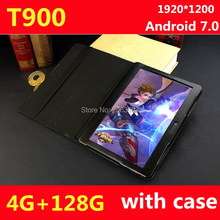 New 10 inch Octa Core 3G/4G Tablet pc 4GB RAM 128GB ROM 1920*1200 Dual Cameras Android 7.0 Tablets 10.1 inch Free Shipping
