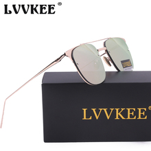 LVVKEE Fashion Brand design top quality rimless sunglasses Women Retro Glass lenses Metal Frame Ladies Sun glasses Female Points